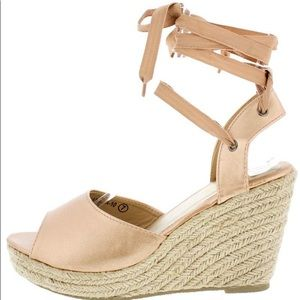 Shoes - Golden Wedges